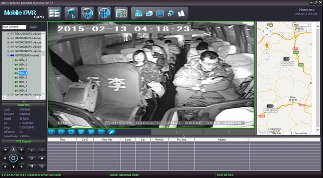 SD8C 3G version night vision cameras for Paratransit buses CMS GUI Para Transit bus Live View Video Streaming 3G cellular live GPS tracking
