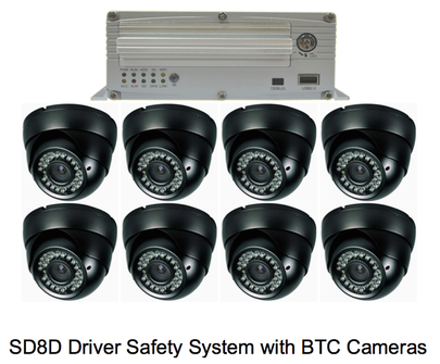 SD8D 8 BTC camera surveillance camera solution for transit, paratransit or school bus