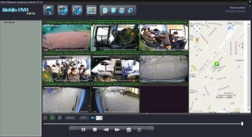 SD8C 3G Live View City Metro Transit Bus with live GPS tracking, geo-fencing, live driver talk low resolution streaming video screenshot 2