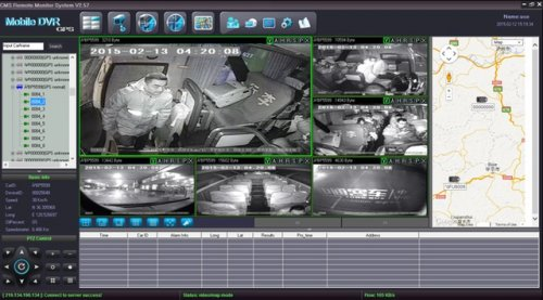 SD8C 3G version with 3G night vision cameras for buses CMS GUI  Metro Para Transit bus Live View Video Streaming 3G cellular live GPS tracking