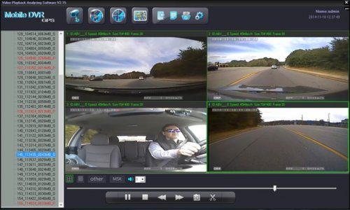 SD4D Camera test Cam1-PD Forward View, Cam2-ExCAM Forward View, Cam3-PD Driver, Cam4 ExCAM Rear 5 mobile video security surveillance onboard driver safety camera system