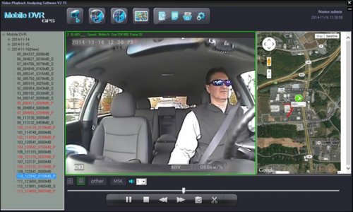 SD4D GUI Driver Camera Full Scrreen view reduce fleet driver risk with mobile video event recorder surveillance to document Dangerous Driving Behaviors