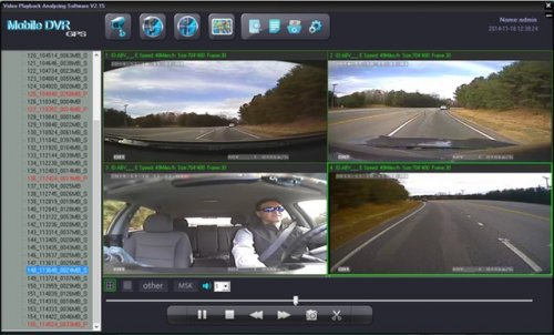 SD4D Camera test Cam1-PD Forward View, Cam2-ExCAM Forward View, Cam3-PD Driver, Cam4 ExCAM Rear 6 mobile video security surveillance onboard driver safety camera system copy