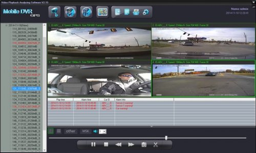 SD4D Driver Safety Video Surveillance Vehicle Mobile DVR with active alerts w/Quad with sensors View fleet driver risk management via video event driver safety recorder to lower risk and reduce fuel costs