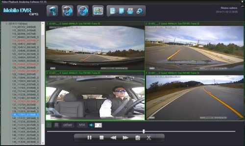 SD4D Camera test Cam1-PD Forward View, Cam2-ExCAM Forward View, Cam3-PD Driver, Cam4 ExCAM Rear 3 mobile video security surveillance onboard driver camera system