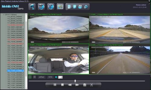 SD4D Camera test Cam1-PD Forward View, Cam2-ExCAM Forward View, Cam3-PD Driver, Cam4 ExCAM Rear best value mobile video surveillance camera system solution for onboard vehicle video camera solutions