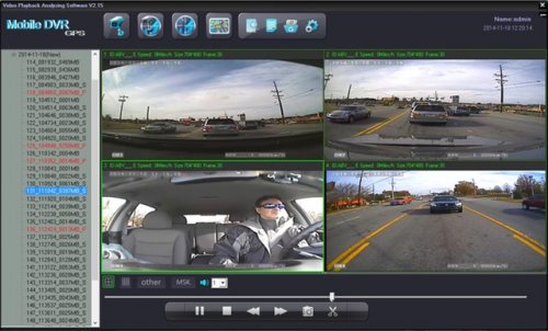 SD4D Camera test Cam1-PD Forward View, Cam2-ExCAM Forward View, Cam3-PD Driver, Cam4 ExCAM Rear 1 mobile video security surveillance system copy
