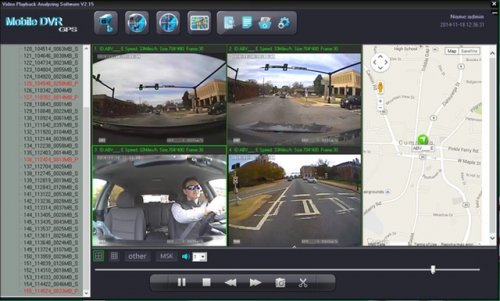 SD4D Driver Safety Surveillance Vehicle Digital Expert Witness w/ Quad Map view Driver Safety Surveillance Video Event Recorder Camera Mobile Video Solution for vehicles