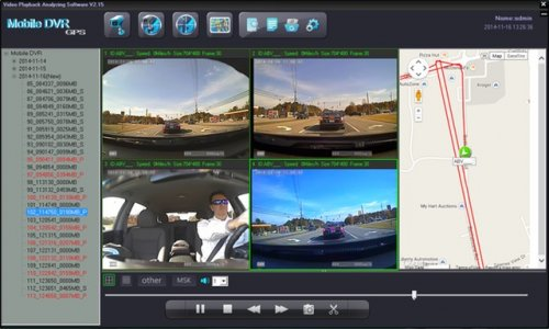 SD4D GUI Quad Screen Map Route view child safety security surveillance system for pupil transportation on school buses