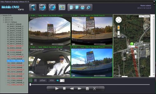 SD4D GUI Quad Screen Sat Map view low cost Pupil transportation child safety and security onboard vehicle video camera observation systems