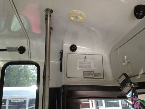 Bus camera surveillance system 3 cam setup