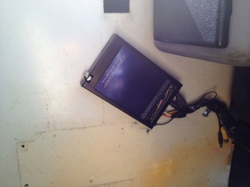 Bus camera surveillance system DVR wall mount