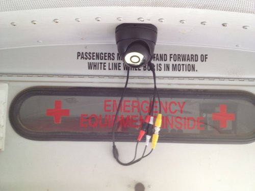 school bus camera system tape connectors and leave service loop